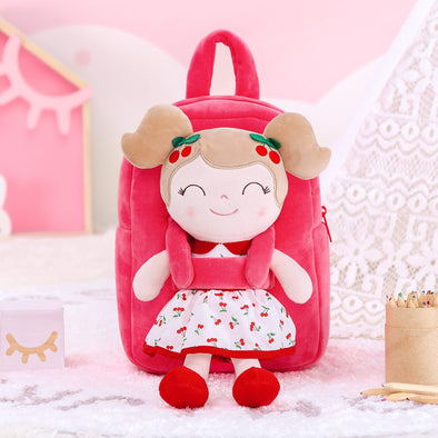 NEW - Personalized Leyadoll Doll Backpack (Red Cherry) - Leya Doll
