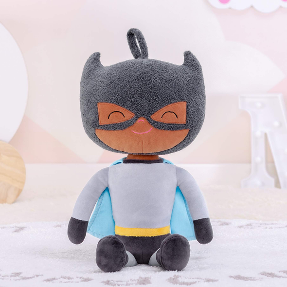 Leyadoll Personalized Name Boy Doll Superhero with Gift Bag - Dark Skin Tone Black Baby Doll Boy Doll Super Hero - Leya Doll