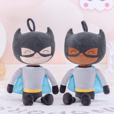 Personalized Superhero Leyadoll with Gift Bag - 2 Skin Tones Boy Plush Doll Super Hero Batman - Leya Doll