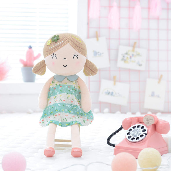 Personalized Leyadoll + Backpack Bundle - Green - Leya Doll