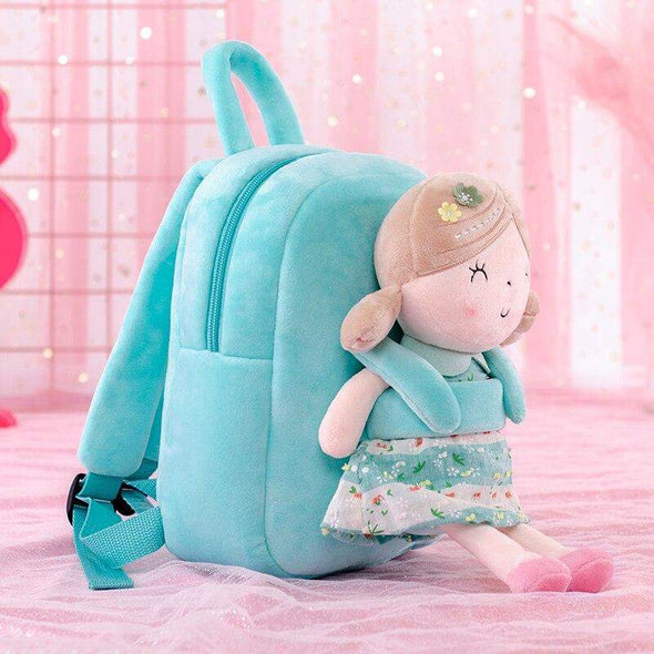 Personalized Leyadoll Doll Backpack (Green) - Leya Doll