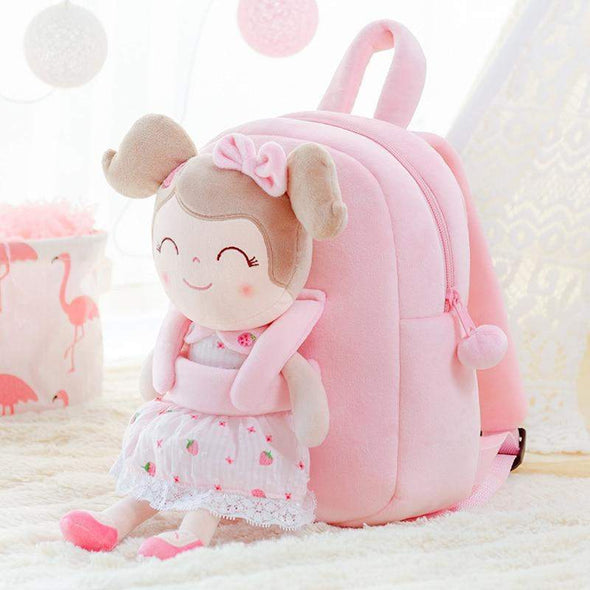 Leyadoll Personalized Name Doll Backpack (Strawberry) - Leya Doll