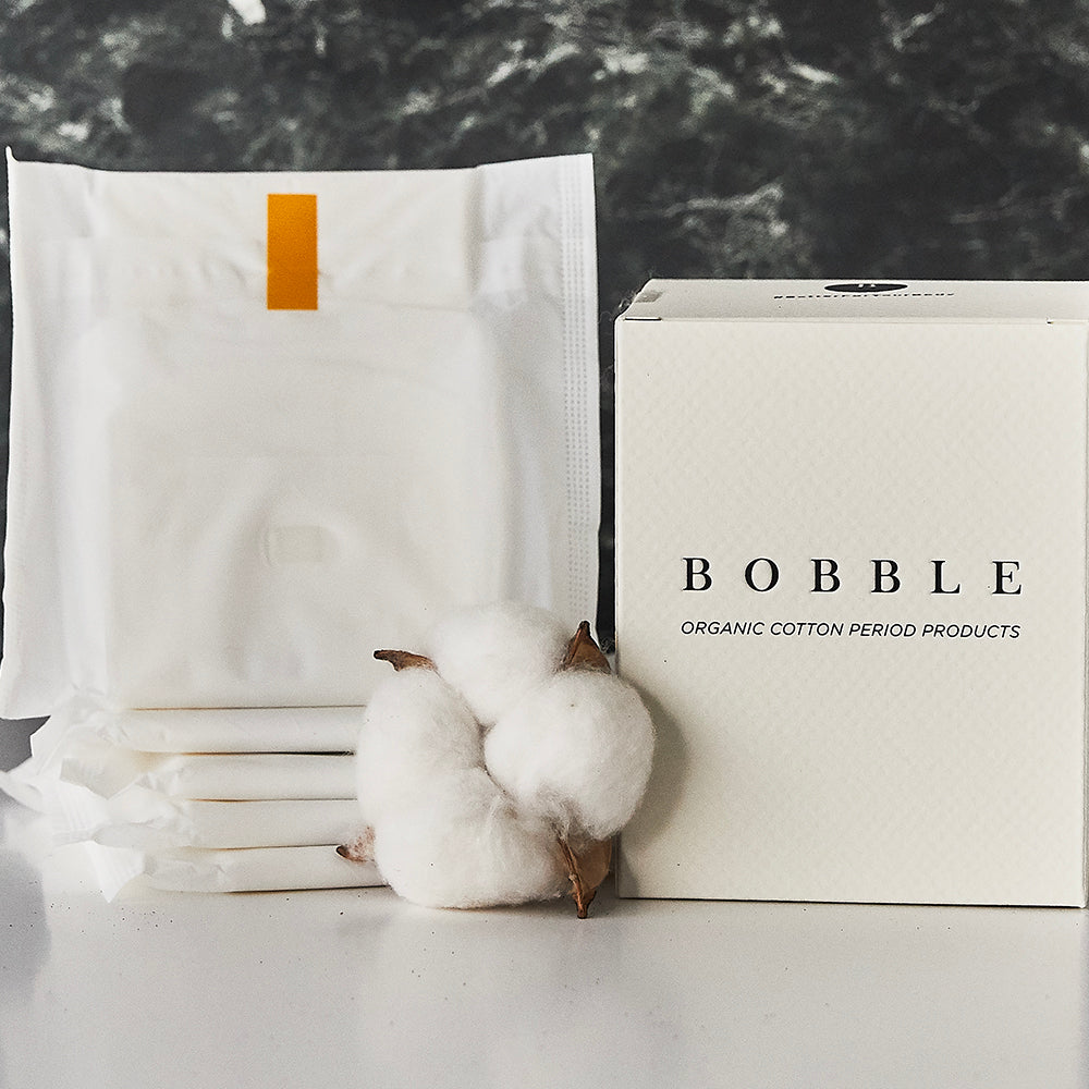 BOBBLE's 100% Organic Cotton Night Pad with wings. Naturally absorbent, non-allergenic for a pad you can trust. Uses sustainable materials in product and packaging. Subscribe to get a lifetime discount of 15%. Delivery nationwide in Malaysia. Free from toxins, chlorine, perfumes and dyes - for a safer experience with period products you can trust.