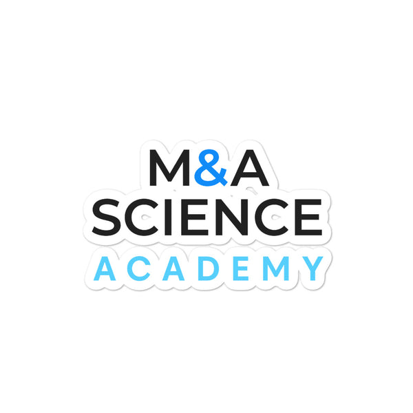 M&A SCIENCE Academy Bubble-free stickers