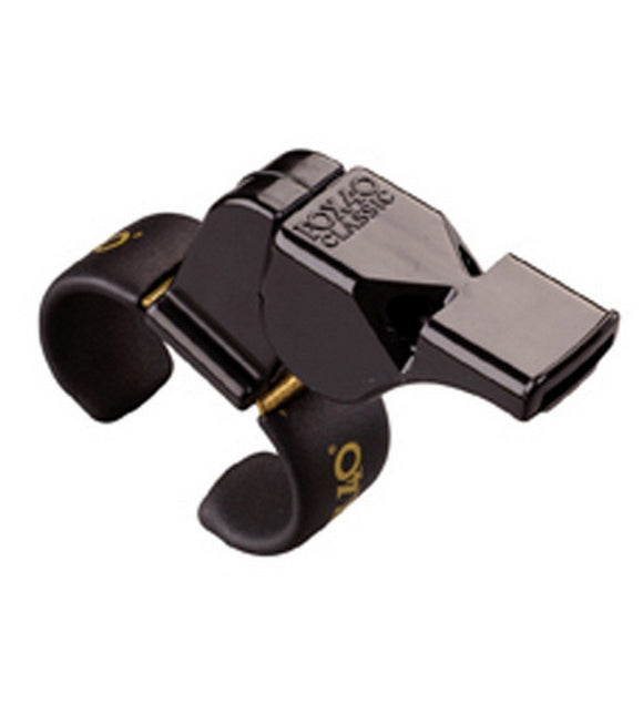 Fox 40 Black Plastic Finger Whistle