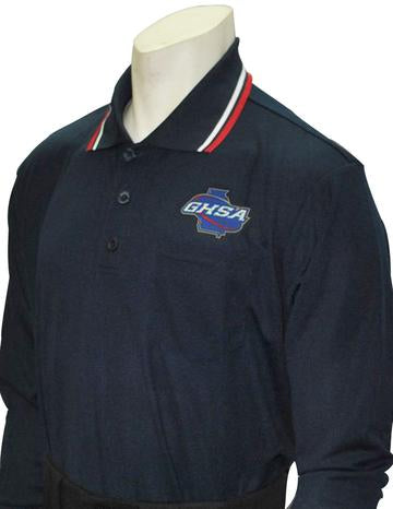 GHSA Softball/Baseball Umpire Long Sleeve Shirt - Navy