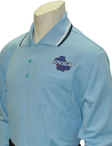 GHSA Softball/Baseball Umpire Long Sleeve Shirt - Powder Blue