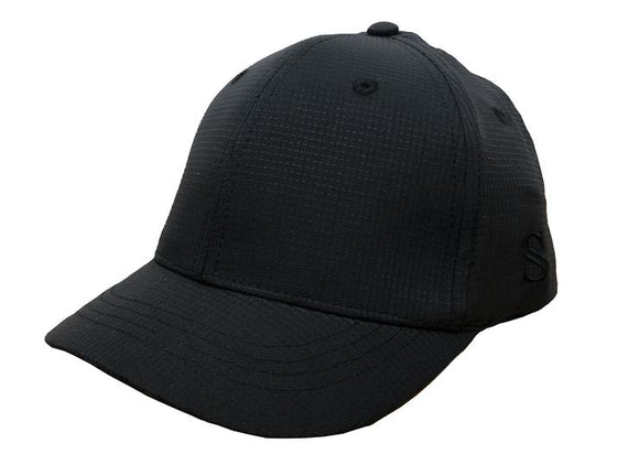 Smitty Performance Black Umpire Hat - Flex Fit - 4 Stitch