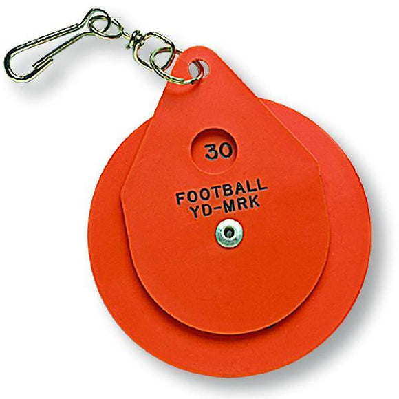 Orange Plastic Disc Chain Clip