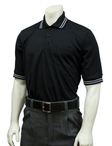 Performance Mesh Umpire Short Sleeve Shirt - Black