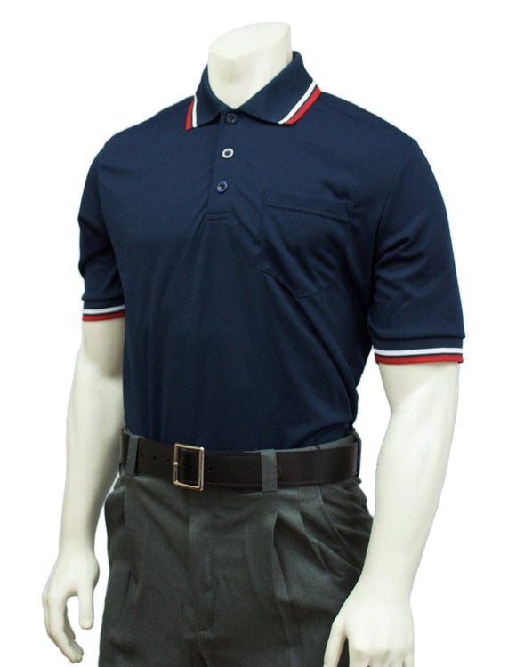 Performance Mesh Umpire Short Sleeve Shirt - Navy