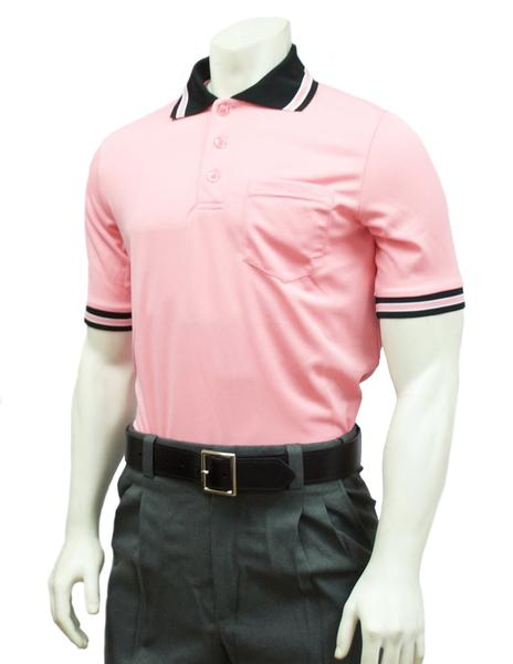 Performance Mesh Umpire Short Sleeve Shirt - Pink