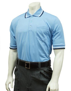 Performance Mesh Umpire Short Sleeve Shirt - Powder Blue