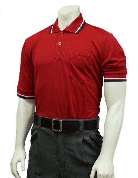 Performance Mesh Umpire Short Sleeve Shirt - Red