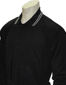 Performance Mesh Umpire Long Sleeve Shirt - Black