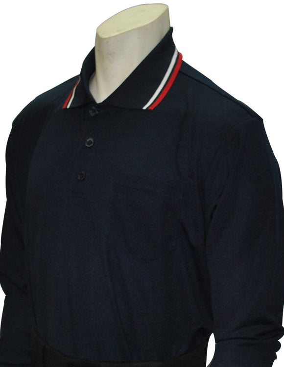 Performance Mesh Umpire Long Sleeve Shirt - Navy