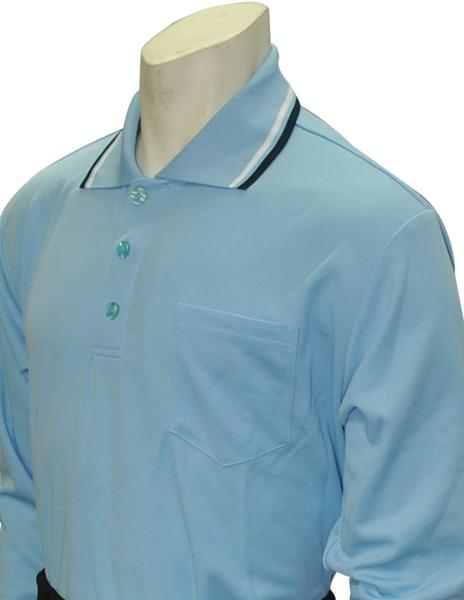 Performance Mesh Umpire Long Sleeve Shirt - Powder Blue