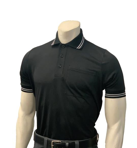 NEW Traditional Body-Flex Umpire Short Sleeve Shirt - Black