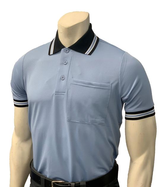 NEW Traditional Body-Flex Umpire Short Sleeve Shirt - Carolina Blue