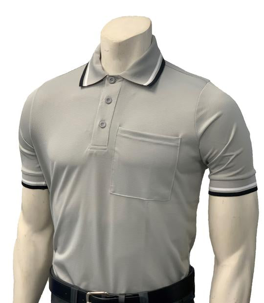 NEW Traditional Body-Flex Umpire Short Sleeve Shirt - Grey
