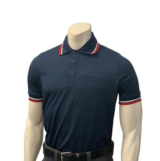 NEW Traditional Body-Flex Umpire Short Sleeve Shirt - Navy