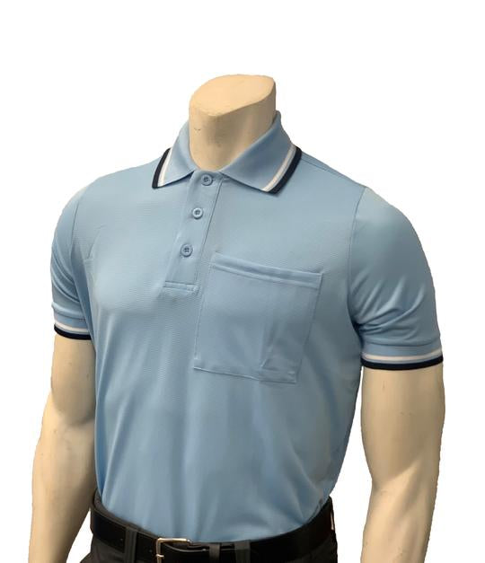 NEW Traditional Body-Flex Umpire Short Sleeve Shirt - Powder Blue