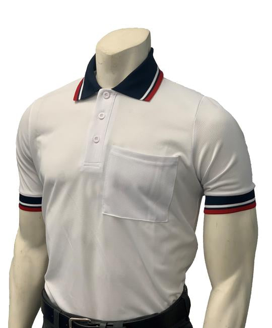 NEW Traditional Body-Flex Umpire Short Sleeve Shirt - White
