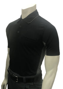 "Smitty ""Major League"" Body-Flex Style Umpire Shirt - Black"