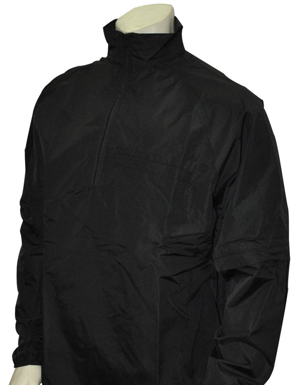 Smitty Major League Style Lightweight Convertible Sleeve Umpire Jacket Black