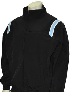 Long Sleeve Microfiber Shell Pullover Jacket - Black with Powder