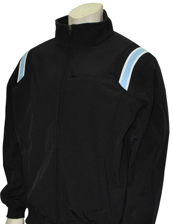 Thermal Fleece Baseball/Softball Jacket - Black with Powder