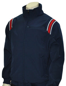 Thermal Fleece Baseball/Softball Jacket - Navy with Red