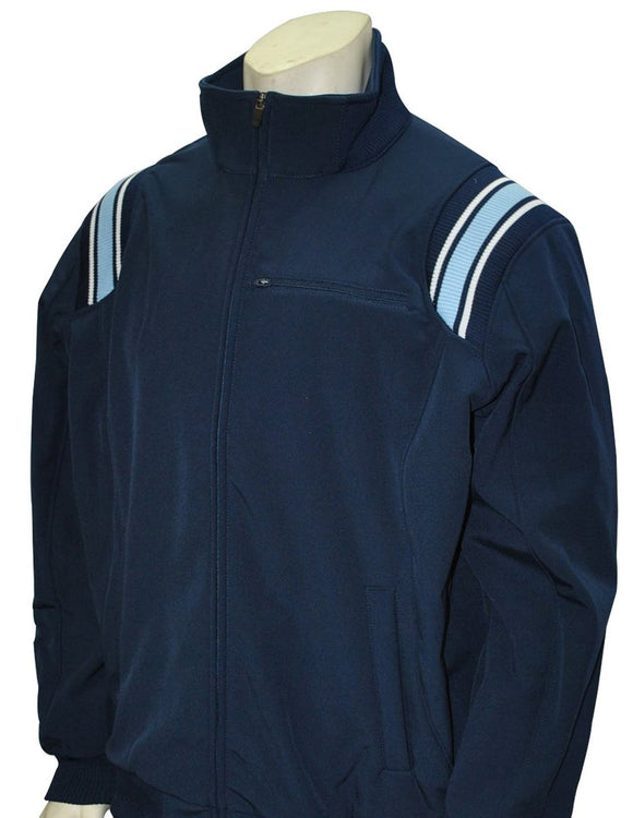 Long Sleeve Microfiber Shell Pullover Jacket - Navy with Powder