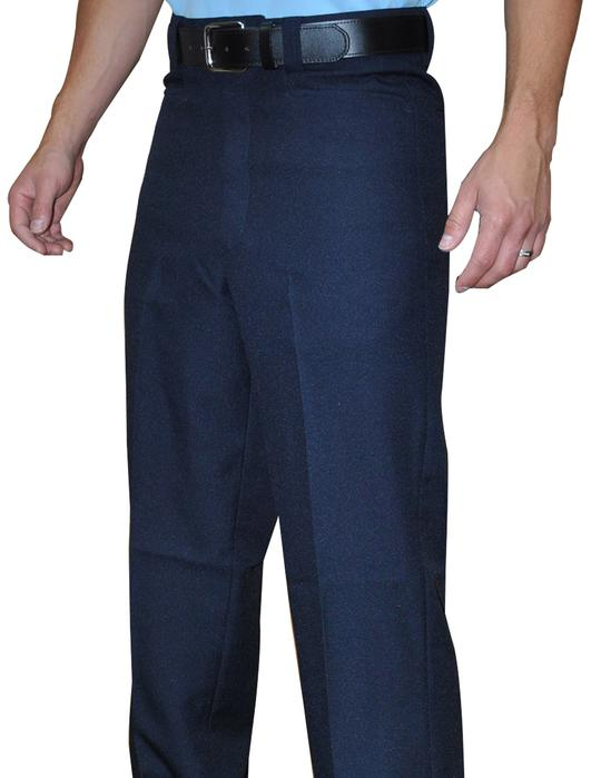 Flat Front Combo Pants- Navy