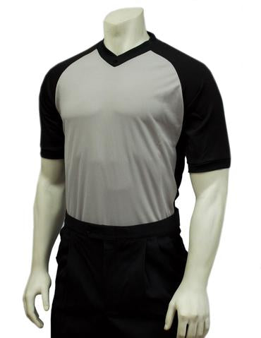Body-Flex Men's Dye-Sublimated Grey w/ Black Raglan Sleeve and Black Side Panel