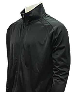 Black Basketball Track Style Zip Front Jacket