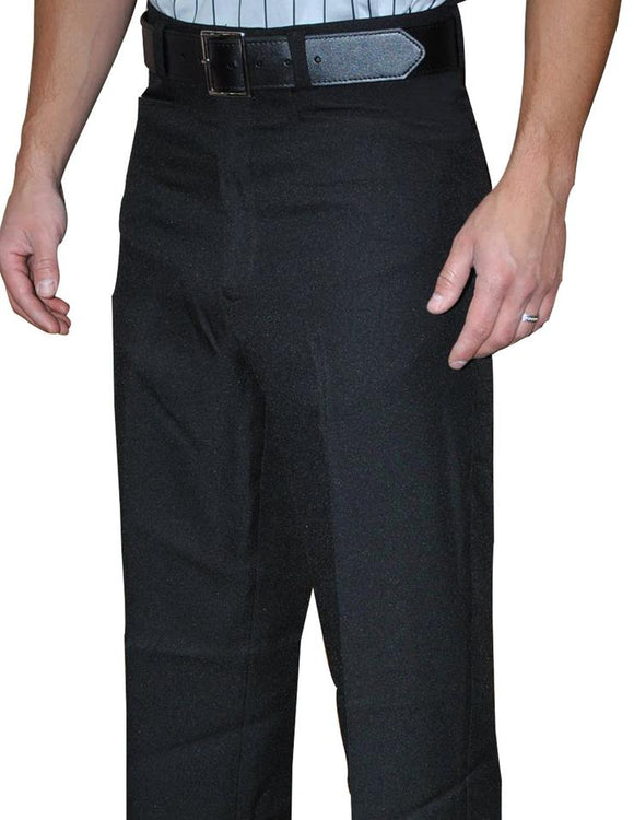 Men's 100% Polyester Flat Front Pants w/ Slash Pockets with Belt Loops