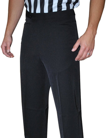 Men's 4-Way Stretch Black Flat Front Pants w/ Western Cut Pockets