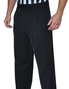 Men's 4-Way Stretch Black Pleated Pants with Slash Pockets