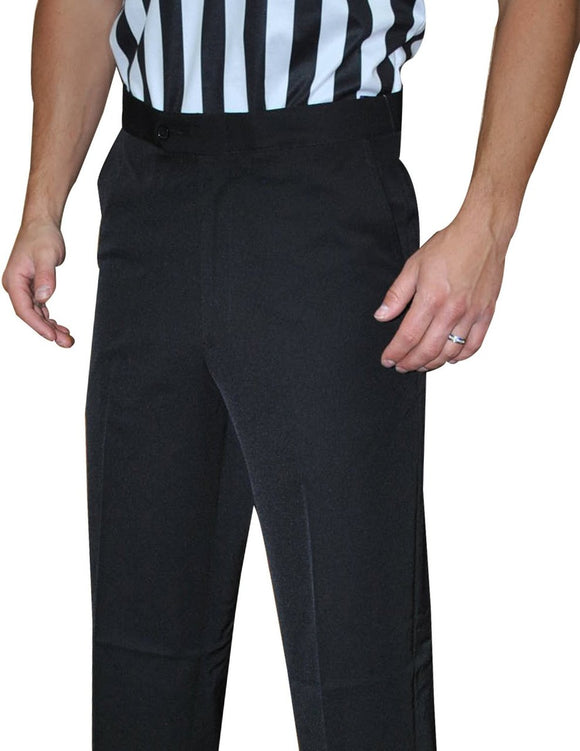Men's 100% Polyester Flat Front Pants w/ Slash Pockets