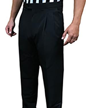 Men's 4-Way Stretch Tapered Pleated Pants with Slash Pockets