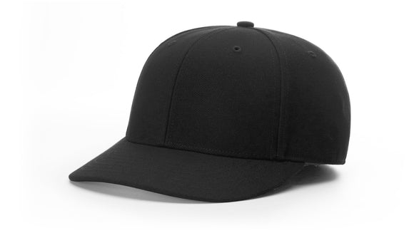 Black Richardson Surge Fitted Umpire Hat - 6 Stitch