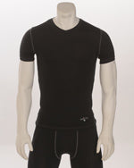 Smitty Black Compression V-Neck Short Sleeve T-Shirt