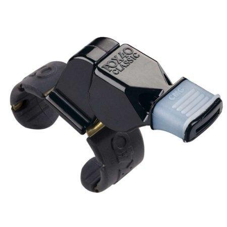 Fox 40 Black Plastic Finger Whistle with CMG