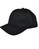 Smitty Black Umpire Hat - Flex Fit - 6 Stitch