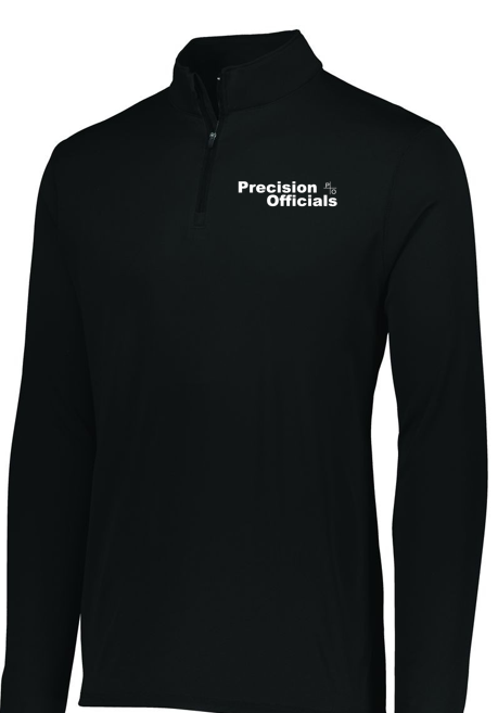 Precision Officials Qtr Zip - Black