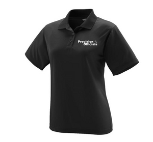 Precision Officials Women's Polo - Black