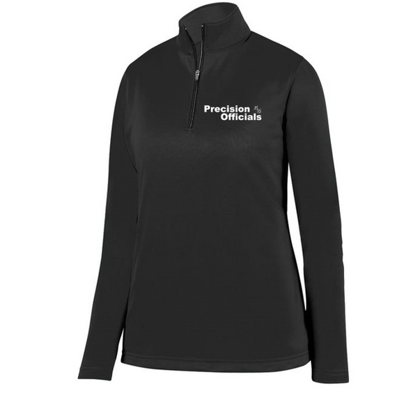 Precision Officials Women's Qtr Zip - Black