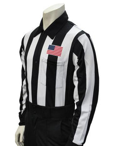 "2 1/4"" Long Sleeve Football Referee Sleeve Shirt with Flag on Left Chest"