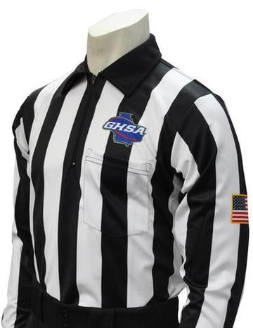 GHSA Long Sleeve Football Referee Shirt